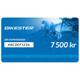 Bikester Gavekort 7500 kr